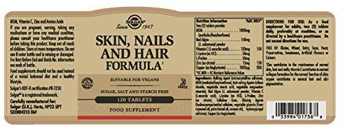 Solgar Skin, Nails & Hair Formula Tablets - Pack of 120