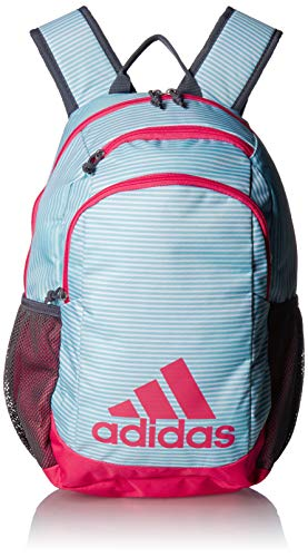 adidas Youth Creator Backpack, Clear Aqua Sundown/Real Pink/Onix, One Size