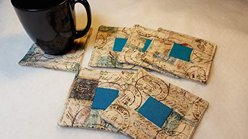 Letters From Home Quilted Coasters - Set of 6 and Free Shipping!