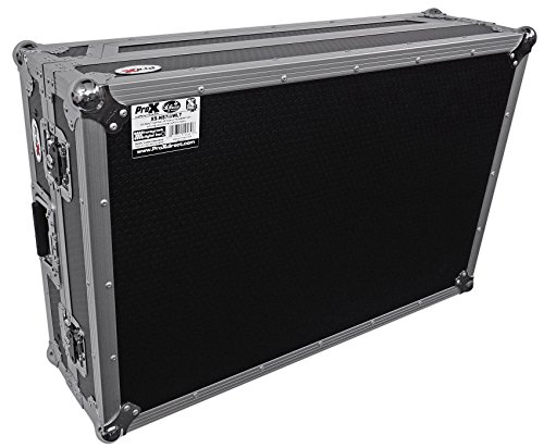 (ProX Flight Case with Wheels & Laptop Shelf for Numark NS7III & NS7II Digital Controller)