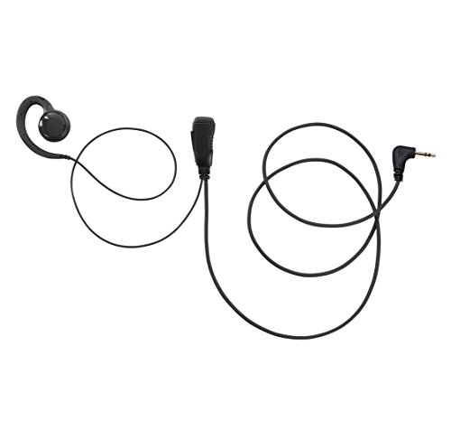 (Maxtop AEH3500-M2 Two Way Radio 1-PIN Swivel Black Headset Earpiece Mic for Motorola Walkie Talkie TLKR T3 T4 T5 T7)