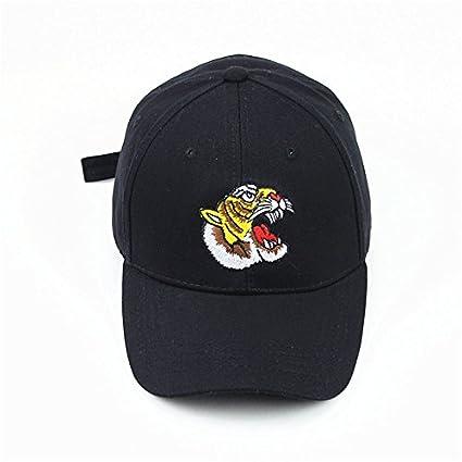 SLGJ Marca Bordado Tiger Gorra de béisbol Sombreros Gorras Hombres Negra Trucker Gorra Hat Huesos Verano
