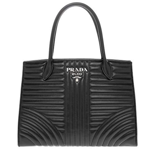 Prada Women's Diagramme Leather Tote Black