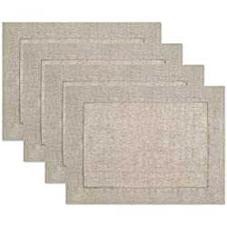 100% Linen Hemstitch Placemats - (Set of 4) Size 14x19 Natural - Hand Crafted and Hand Stitched Placemats with Hemstitch detailing. The pure Linen fabric works well in both casual and formal settings