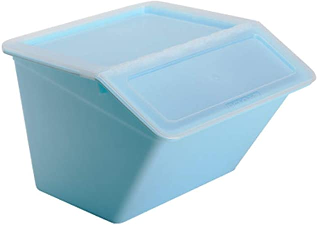 YANQ Caja de Almacenamiento Plus Caja de Almacenamiento Caja de Almacenamiento de plástico Ropa Caja de Almacenamiento (Color : Azul): Amazon.es: Hogar