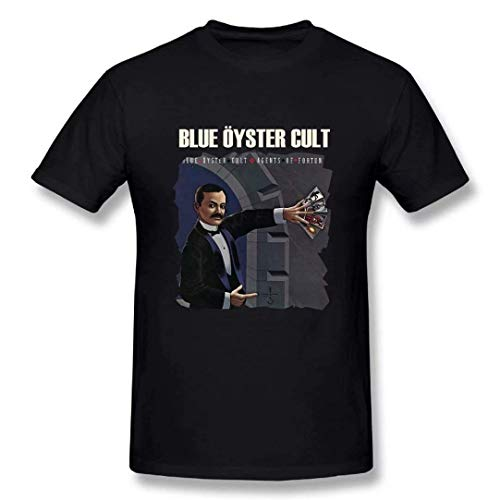 Antongxue Blue Oyster Cult Agents of Fortune Men's Short Sleeve Funny T-Shirt 6XL