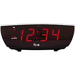 Equity by La Crosse 75900 Red LED Electric Alarm Clock with USB Port