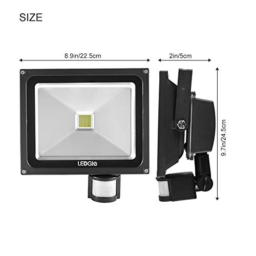 Outdoor Flood Lights Wont Turn Off: LEDGLE 30W LED Motion Sensor Flood Lights 2200 Lumen IP65