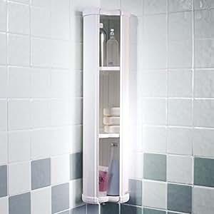 Showerlux stowaway armario esquinero para ba o amazon - Armarios bano amazon ...