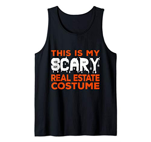 This Is My Scary Real Estate Costume Halloween Realtor Agent Tank Top