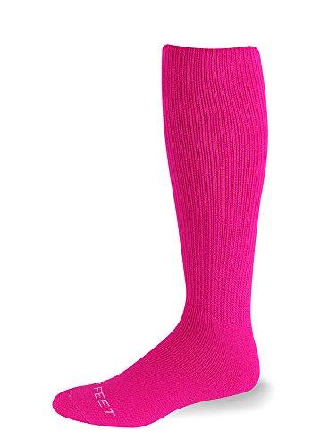 pro-feet-adult-unisex-acrylic-multi-sport-cushioned-tube-socks-hot-pink-9-11