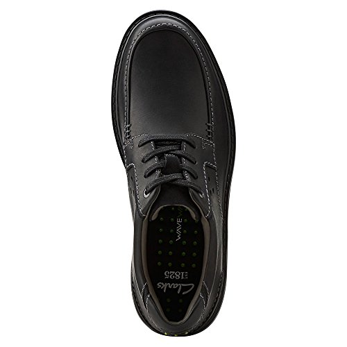 Clarks Heren Wavecenter Ave Casual Veter Oxford Zwart Leer