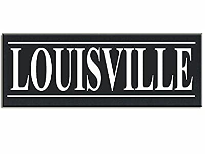 "Louisville Hometown Love City Wood Handpainted 16"" X 5.5"" X .5"" Wall Sign"