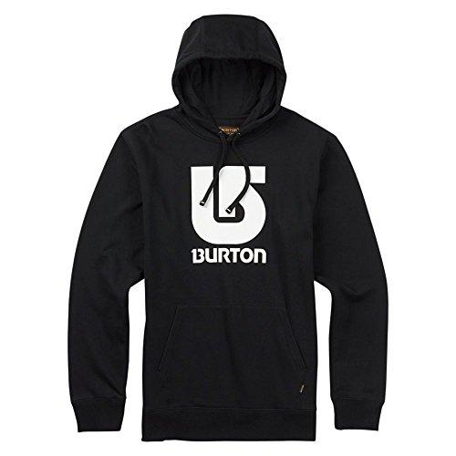 Burton Logo Vertical Pullover Hoodie, True Black, Small -