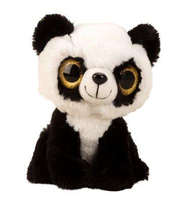 Panda sentado con grandes ojos de peluche, entzückendes Peluche para Navidad