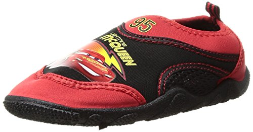 Josmo Character Shoes Boys' Cars Water Shoe, Black/Red, 9/10 Medium US Toddler