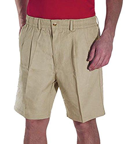 Creekwood Elastic Waist Twill Shorts for Big & Tall Men – 40tall – Stone