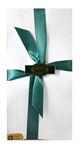 Thomas Ferguson - Gentlemen's BH133 White Hemstitched Irish Linen Handkerchief - Pack of 3 in Gift Box ()