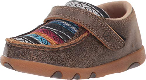 Twisted X Toddler-Boys' Serape Canvas Driving Moc Shoes Brown 5 D]()