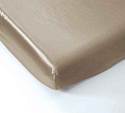- EliteHomeProducts Super Soft & Silky Satin Crib Fitted Sheet (30