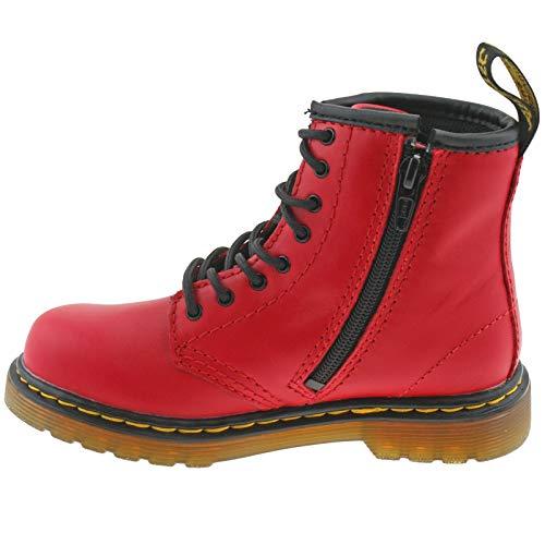 Martens Zip Side J Soft Dr eu 29 11 Romario Red Girls Satchel Leather 1460 uk Kids Boots Rww8dq
