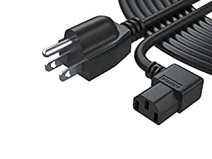 Amazon Com Pwr 25 Ft Cable 3 Prong Lcd Tv Power Cord