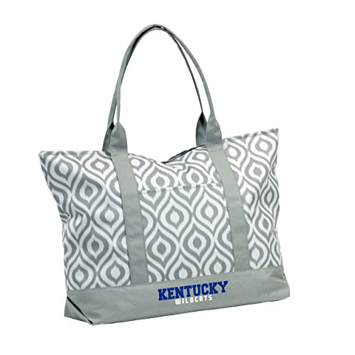 Logo Brands 159-66K NCAA Kentucky Women's Ikat Tote Bag, Black