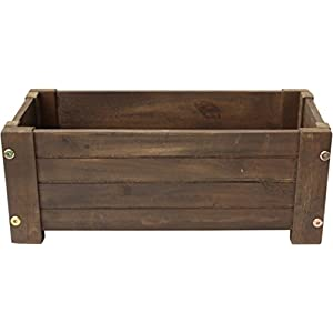 Happy-Planter-HPCH413-Medium-Wood-Barrel-Outdoor-Planter-19-in-x-10-in-x-85-in-Color-Mocha-Brown