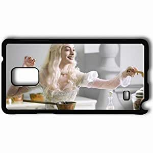 Personalized Samsung Note 4 Cell phone Case/Cover Skin Anne hathaway alice in wonderland movies Black
