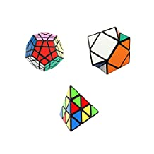 I-xun Speed Magic Cube Puzzle Set of Skewb, Pyraminx, Megaminx Cube - 3 Pack