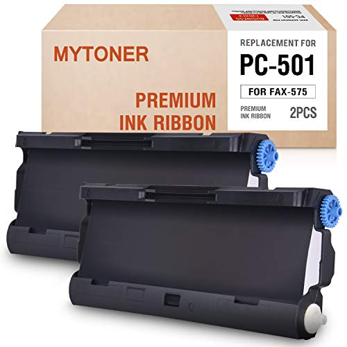 MYTONER PC501 Compatible Brother PC-501 PC 501 PPF Print Fax Cartridge for Brother Fax 575 FAX-575 - Cartridge Pc501 Fax Compatible