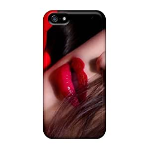 Flexible Tpu Back Case Cover For Iphone 5/5s - Girls Red by runtopwell