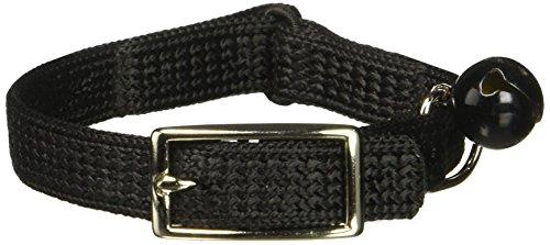 (Coastal Pet Sassy Snag-Proof Nylon Cat Safety Collar (Black, 8
