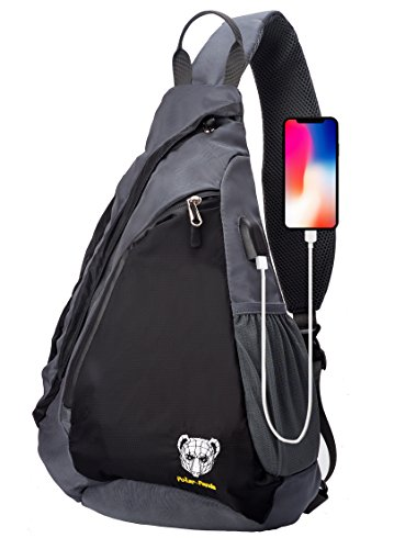Sling Backpack Crossbody Bag for Women & Men Travel Shoulder Chest Bags One Strap Hiking & Outdoor Pack by Polar Panda