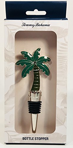 Tommy Bahama Metal Wine Bottle Stopper Green Palm Tree