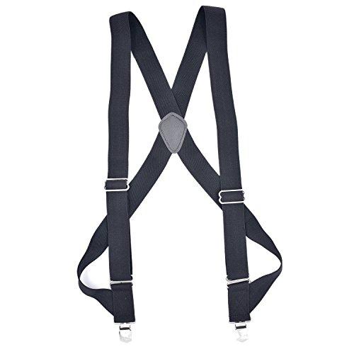 SRD POWER undergarment suspenders for men with premium 2 clips hidden suspenders for men (Black) -