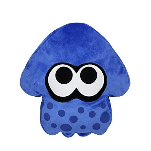 Little Buddy USA 1456Splatoon Bleu foncé Squid Taie d'oreiller en peluche, 35,6cm