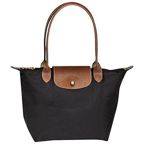 Longchampag Le Pliage Large Shoulder Tote Bag Black