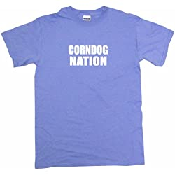 Corndog Nation Men's Tee Shirt -Light Blue