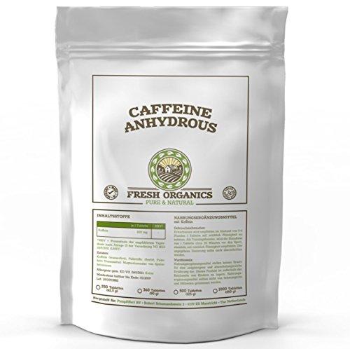 Koffein 1000 Tabletten á 200mg | Großpackung XXL | Caffeine Anhydrous | 100% wasserfreies Koffein | Coffeinium | Natürlicher Wachmacher | Unterstützt Energie-Level & Stoffwechsel
