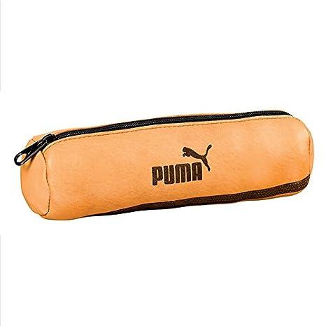 Estuche Redondo Escolar Puma Piel - 22 x 7 - marrón: Amazon ...