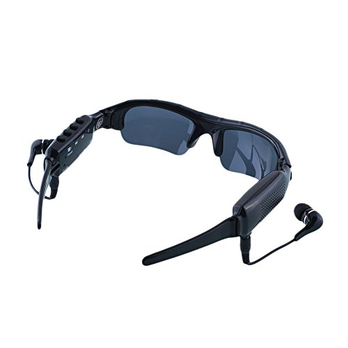 Bluetooth MP3 Sunglasses HD Mini Camera Eyewear PC Video DV - Bluetooth Sunglasses Mp3