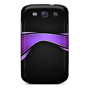 New Premium Flip Case Cover Abstract Purple Skin Case For Galaxy S3