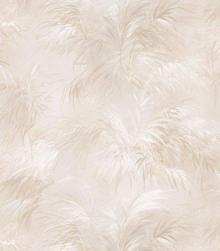 Brewster 426-6234 Bath Bath Bath Vol III Transitional Leaf Wallpaper, 20.5-Inch by 396-Inch, Cream