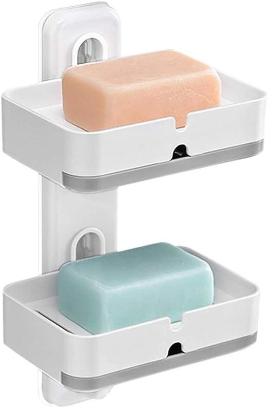 Modern Antique Charcoal Wooden Bathroom Soap Dish Bath Soap Saver Soap T HS