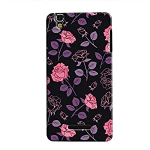 Cover It Up - Roses Print Black YU Yureka Hard Case