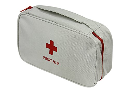 First Aid Kit Bag First Aid Pouch Roomy Medical Bag Costume Bag Emergency Survival Outdoor Pouch Home Rescue Medical Kit Bag Medicine Chest Red Cross Bag for Nurse Doctor Office Travel Camping Car ()