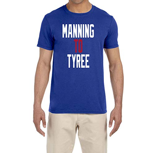- Tobin Clothing Blue New York Manning to Tyree T-Shirt Adult Large