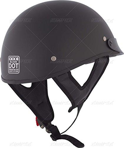 CKX 349415 Slick Riding Half Helmet, Matte Black, Large