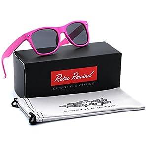 Kids Neon Classic Sunglasses Age 3-12 - Pink